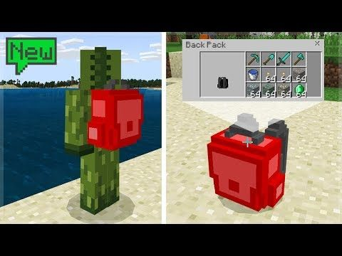 How To Get Working Backpacks In Minecraft Pocket Edition/Bedrock New Addon