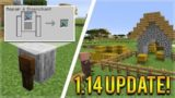 MINECRAFT 1.14 NEW DISENCHANTMENT GRINDSTONE! + NEW PLAINS BIOME VILLAGE (Snapshot 18w48a)