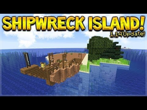 MINECRAFT 1.14 – SHIPWRECK SURVIVAL ISLAND! THEY ADDED BERRIES!! (Dinnerbone Seed)