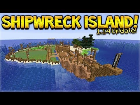 MINECRAFT 1.14 – SHIPWRECK SURVIVAL ISLAND! WE FOUND BERRIES!! (Dinnerbone Seed)