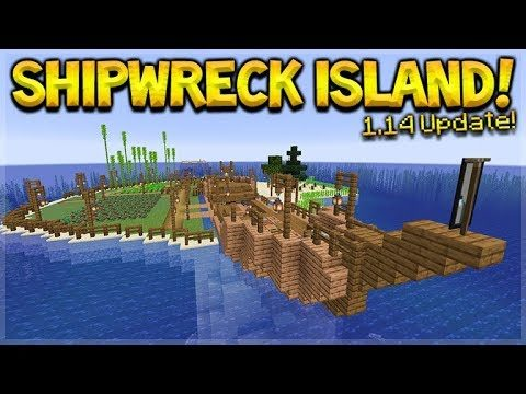 MINECRAFT 1.14 – SHIPWRECK SURVIVAL ISLAND! THEY ADDED BARREL CHESTS! (Dinnerbone Seed)