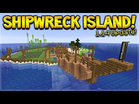 Minecraft 1 14 Shipwreck Survival Island They Added