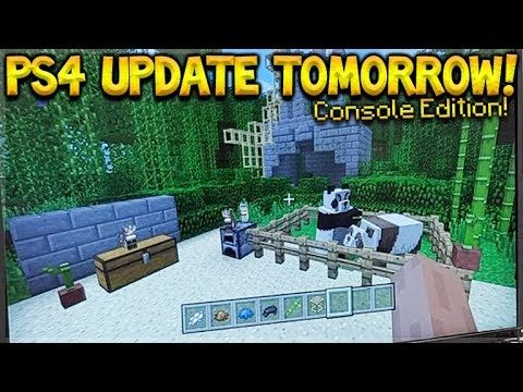 Minecraft PS4: TU82 UPDATE OUT TOMORROW! – PANDAS, CATS, NEW TEXTURES! (PS4 2018 Update)