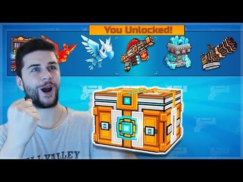 LET'S SPEND 5,000 KEYS ON SUPER LOTTERY CHEST CREATE OPENINGS! WE UNLOCKED 2 WEAPONS | Pixel Gun 3D