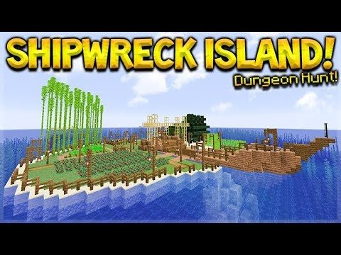 MINECRAFT 1.14 – SHIPWRECK SURVIVAL ISLAND! DUNGEON HUNT! (Dinnerbone Seed)