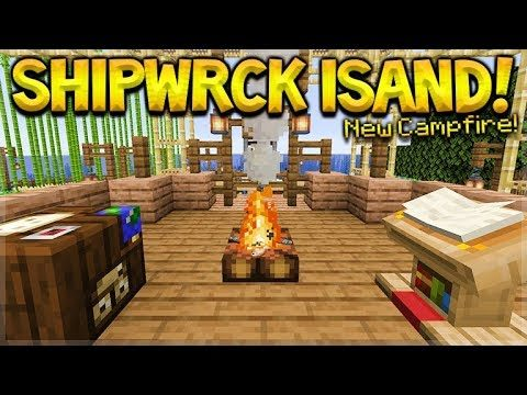 MINECRAFT 1.14 – SHIPWRECK SURVIVAL ISLAND! THEY ADDED CAMPFIRES! (Dinnerbone Seed)