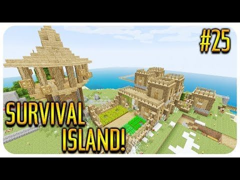 ✅ MINECRAFT – SURVIVAL ISLAND – DRAINING GUARDIAN TEMPLE! Episode 25