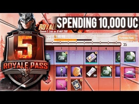 PUBG MOBILE SEASON 5 – ELITE ROYALE PASS PURCHASE & 10,000 UC CRATE OPENING! (PUBG Mobile)