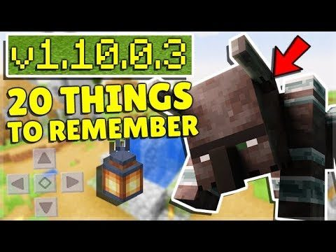 20 IMPORTANT Things To Remember About MCPE 1.10 BETA!