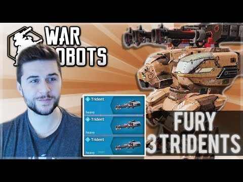 I PUT 3 TRIDENTS ON MY FURY ROBOT AND RANKED TO LEVEL 28! | War Robots