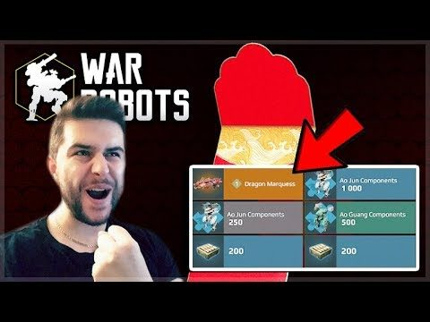 I UNLOCKED THE DRAGON MARQUESS WEAPON! HONGBAO LOTTERY OPENING! | War Robots