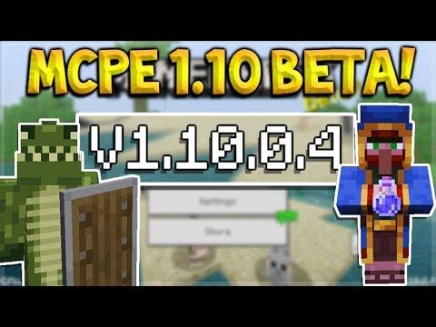 MCPE 1.10.0.4 BETA SHIELDS UPDATE! Minecraft Pocket Edition Smithing Table & Potion Wandering Trader