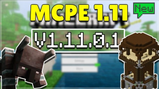 MCPE 1.11.0.1 BETA VILLAGE & PILLAGE! Minecraft Pocket Edition NEW Campfires & More!