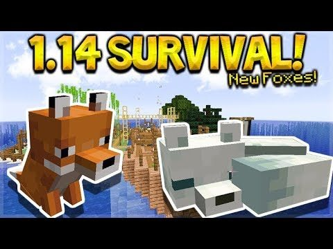MINECRAFT 1.14 – SHIPWRECK SURVIVAL ISLAND! NEW FOXES MOB! (Dinnerbone Seed)