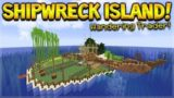 MINECRAFT 1.14 – SHIPWRECK SURVIVAL ISLAND! WANDERING TRADER (Dinnerbone Seed)
