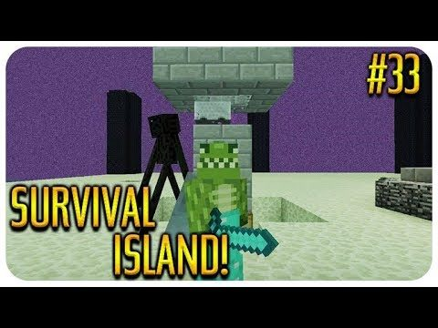 ✅MINECRAFT – SURVIVAL ISLAND – COVERING THE END IN WATER! Episode 33