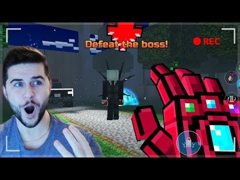 OMG! DEFEATING SLENDER MAN WITH THE THANOS GAUNTLET! | Pixel Gun 3D