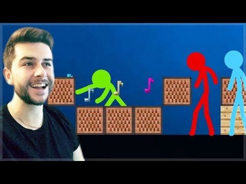 REACTING TO AMAZING ANIMATION Vs MINECRAFT!! – STICKMEN Vs NOTEBLOCKS Minecraft Animation