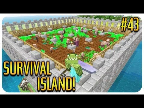Create Thumbnail  ✅MINECRAFT – SURVIVAL ISLAND – VILLAGER BREEDER UPGRADE! Episode 43