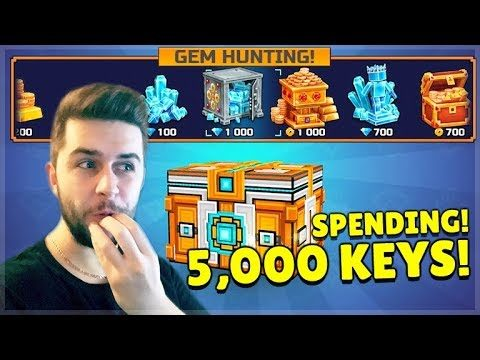 I SPENT 5,000 KEYS ON SUPER CHEST CRATE OPENINGS! AND GOT SO MANY GEMS! | Pixel Gun 3D