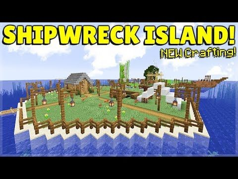 MINECRAFT 1.14 – SHIPWRECK SURVIVAL ISLAND – NEW GLOBE BANNERS! (Dinnerbone Seed)