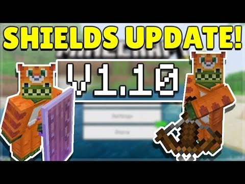 MINECRAFT PE/BEDROCK 1.10 SHIELDS UPDATE! – Shields OFFICIALLY Released!