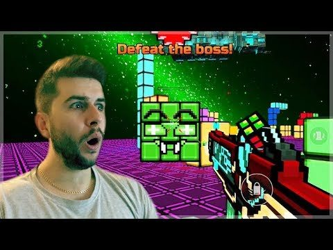OMG! BEATING THE CUBIC BOSS EPIC FINAL BATTLE CAMPAIGN WORLD 4 ENDING! | Pixel Gun 3D