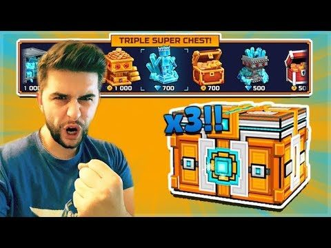 OPENING 3 SUPER LOTTERY CHESTS! THE HUNT FOR GEMS & WEAPONS MAGIC LOTTERY   Pixel Gun 3D