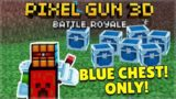 TAKING OVER THE GAME! BLUE CHEST ONLY BATTLE ROYALE CHALLENGE | Pixel Gun 3D