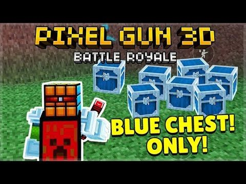 TAKING OVER THE GAME! BLUE CHEST ONLY BATTLE ROYALE CHALLENGE   Pixel Gun 3D