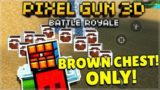 THIS WEAPON IS OP! BROWN WOODEN CHEST ONLY BATTLE ROYALE CHALLENGE | Pixel Gun 3D