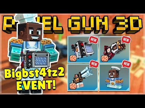 UNLOCKING ALL YOUTUBER bigbst4tz2 NEW WEAPONS COOKIE KING EVENT! | Pixel Gun 3D