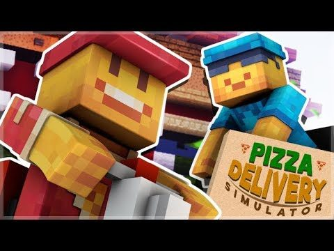 WE BECAME PIZZA DELIVERY DRIVERS IN MINECRAFT! (Pizza Delivery Simulator)
