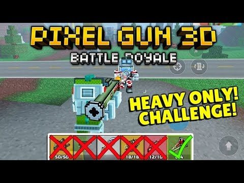 YOU CAN ONLY USE HEAVY SECTION WEAPONS BATTLE ROYALE CHALLENGE! | Pixel Gun 3D