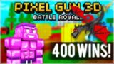 CHALLENGE HUNTER! 400+ BATTLE ROYALE WINS & SUPER CHEST OPENING! | Pixel Gun 3D