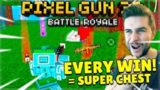 EVERY VICTORY ROYALE = SUPER CHEST OPENING! BATTLE ROYALE CHALLENGE | Pixel Gun 3D