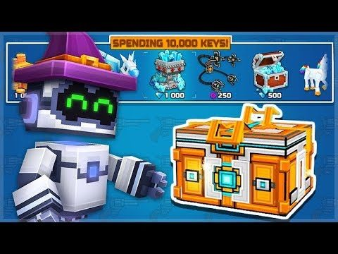 I SPENT 10,000 KEYS ON SUPER CHESTS AND UNLOCKED 5 WEAPONS!   Pixel Gun 3D