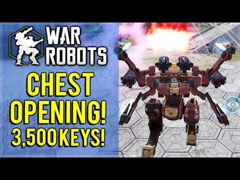 I SPENT 3,500 KEYS ON BLACK MARKET CHESTS! OP HADES ROBOT TESTING! | War Robots