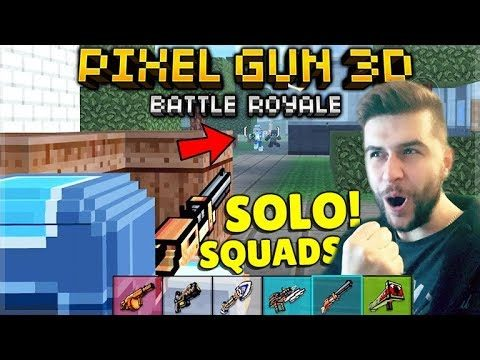 THIS GAMEPLAY WAS INSANE!! SOLO SQUADS CHALLENGE IN BATTLE ROYALE! | Pixel Gun 3D