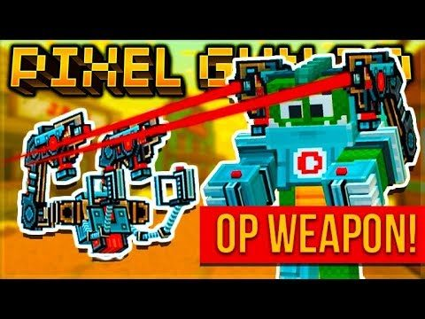 THIS WAS THE MOST EXPENSIVE WEAPON IN THE GAME OP STORM TROOPER EXOSKELETON Pixel Gun 3D