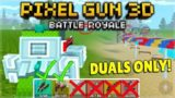 WE CAN ONLY USE DUAL WEAPONS! BATTLE ROYALE CHALLENGE! | Pixel Gun 3D