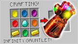 CRAFTING THANOS INFINITY GAUNTLET IN MINECRAFT!