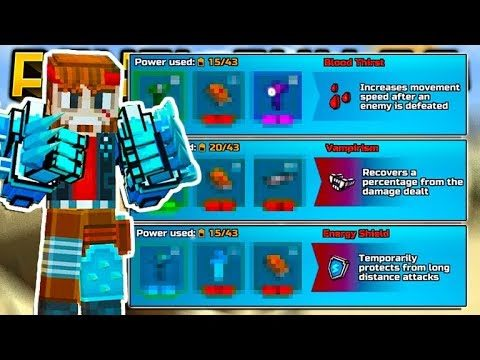 GOD MODE COMBINATION BEST MODULES FOR MELEE WEAPONS! | Pixel Gun 3D