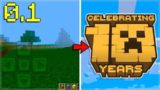 MCPE 0.1 EVOLUTION THIS WAS THE FIRST PUBLIC MINECRAFT PE VERSION!
