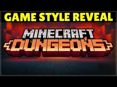 Minecraft DUNGEONS! – GAMEPLAY Style REVEALED NO MINING or BUILDING!