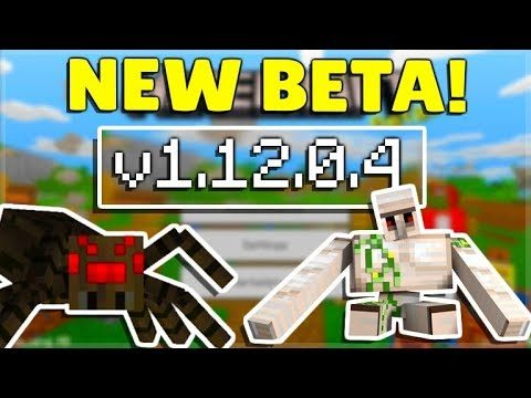 MINECRAFT PE/BEDROCK 1.12.0.4 BETA! Minecraft Pocket Edition Spiders Now Smart!
