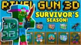 NEW 16.2.0 SURVIVOR'S BATTLE PASS SEASON 8 REVIEW! | Pixel Gun 3D